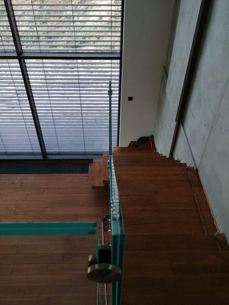 Balustrada szkło laminowane jasne (002)