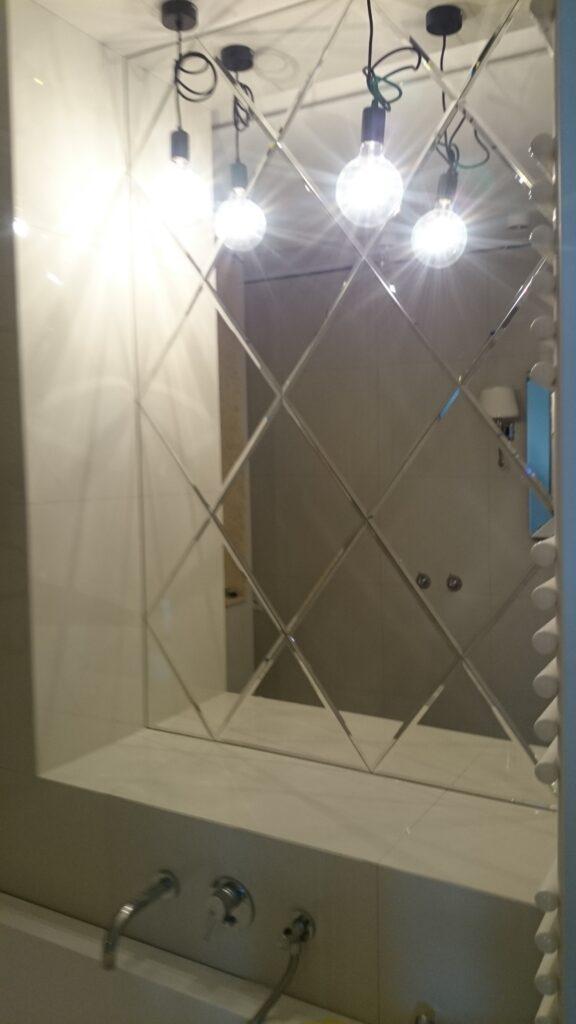 Składanka z lustrzanych rombów